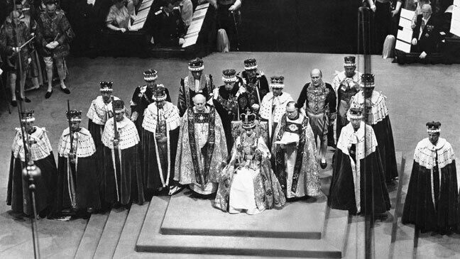 Queen elizabeth ii sits on the throne in westminster abbey surrounded by peers and churchmen 136398432028002601 150601165111.jpg