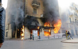 Lebanese Banks Torched in Rekindled Protests