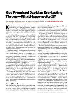 God Promised David an Everlasting Throne—What Happened to It?
